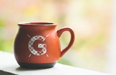 GBabie's Coffee (Ginny Williams Photography) Tags: orange white coffee yummy bokeh monogram coffeecup g mug target letter caffeine homedecor monogrammed cupofjoe printsforsale printsforpurchase northcarolinaphotographer targethomedecor