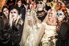 Corpse Bride and Corpse Bridesmaids (rafa.esteve) Tags: street portrait españa halloween valencia night noche spain zombie streetphotography parade desfile event evento