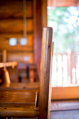 log cabin kitchen #3 (Real Cowboys Drive Cadillacs) Tags: wood vacation orange brown white black color art nature kitchen architecture table relax photography 50mm us photo log cabin nikon raw texas unitedstates bokeh outdoor 14 grain colorphotography logcabin woodgrain burnet woodtable d600 nikond600