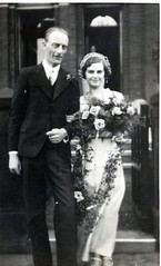 VINTAGE WEDDING (JOHN MORGAN 2 000 000 VIEWS THANK YOU.) Tags: uk flowers wedding bw white man black church beauty vintage found groom bride photo interesting day different photographer photos unitedkingdom best bridesmaids unknown and british bouquet unusual