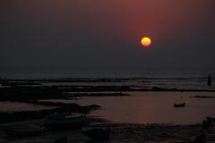 Chimbai Sunset (MPBecker) Tags: ocean road sunset sea sun india fish west beach church st canon bay is fishing catholic village dusk indian hill andrew bombay maharashtra carter usm arabian mumbai portuguese rd bharat bandra koli f4l 24105mm 60d bandrawest chimbai