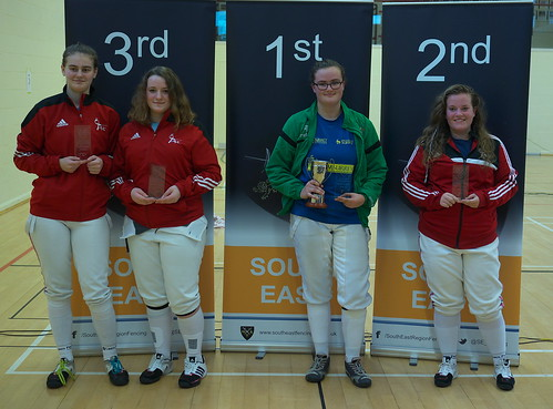 Winners of the Ladies SE Region Sabre 2016/17