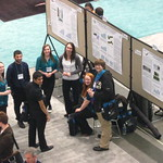 Students at research conference.