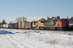 CN 2436E, CN 392 (Joseph Bishop) Tags: cn 2436 ge c408m cndundassubdivision brantford ontario trains train track tracks railfan railroad railway rail rails