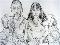 Scott and Brenda 2014 (Kerry Niemann) Tags: pencil couple portraitdrawing