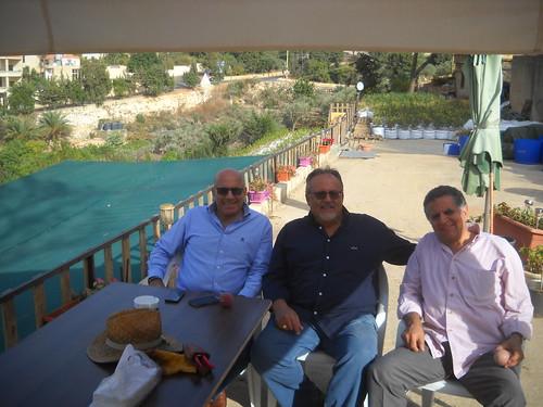 Talal, Gassan& Rabeeh Rassamny visit garden b Oct 23,