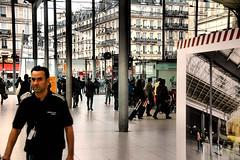 Gare du Nord (EmperorNorton47) Tags: autumn windows france fall digital photo interior strangers trainstation garedunord iledefrance railroadstation pariis