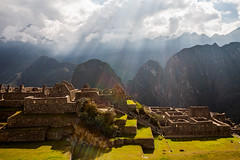 Reisdential and agricultural sectors at Machu Picchu, Peru