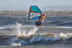 PC310915-Edit (Brian Wadie Photographer) Tags: gulls oystercatcher windsurfing kiting em1 goodlight 14xtc avonbeach canon70300lis hemgistburyhead