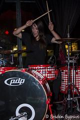 D7K_2339 CC (Braden Bygrave) Tags: show toronto rock drums concert lowlight nikon drum bass guitar flash crowd singer bassist drummer nikonphotography d7100 nikonphoto yn460 nikond7100