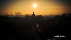 Sunlit roofs (malioli) Tags: city roof sunset urban sun canon town europe sundown dusk croatia palce zagreb hrvatska