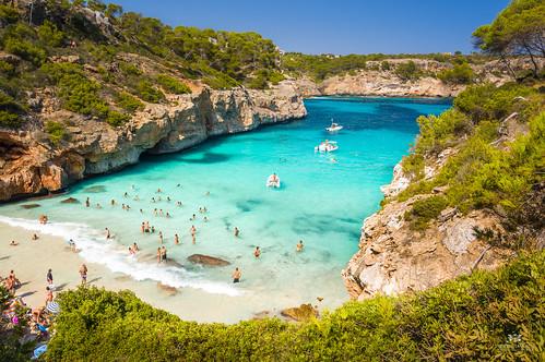 View of the bay at Calo des Moro, Mallorca (Spain)