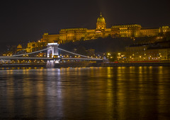 Buda Castle (Wizard CG) Tags: budapest buda castle chain bridge hungary long exposure hdr skyline road sky architecture city epl7 ngc world trekker water night outdoor