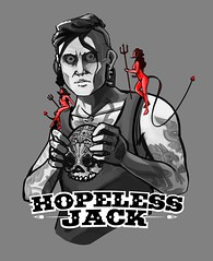 Hopeless Jack (justin pyne) Tags: justin pyne hopeless jack commission painting tumblr cintiq photoshop shirt design live music give me money