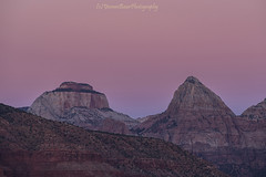 Pink Sky (baur.yvonne) Tags: utah southernutah sunset twilight pink zioncanyon mountain easttemple outdoors hike viewpoint noclouds sandstone cliffs
