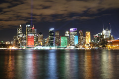 Sydney Skyline (lukedrich_photography) Tags: australia oz commonwealth        newsouthwales nsw canon t6i canont6i history culture sydney       metro city vivid night light dark longexposure cbd central business district circularquay circular quay harbour water skyline cityscape viewpoint skyrise tower architecture centre