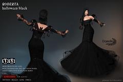 DANIELLE Roberta Halloween Black (Dani Plassitz ~Danielle~) Tags: formal blacklace gown frills elegance danielle sl halloween