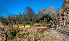 On the High Line (kdmadore) Tags: drgw denverriograndewestern durangosilverton dsng durango silverton steamlocomotive steamengine railroad train narrowgauge