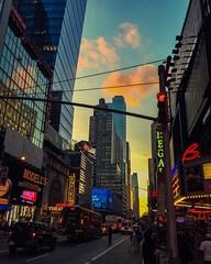 Times Square (fermattei) Tags: newyorker streetphotography lights light colors color sky cloud clouds newyorkcity timessquare bigapple newyork ny nyc fernandomattei manhattan