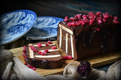 Chocolate dessert (Yummilicious Cakes & Desserts) Tags: dessert food photography styling chocolate fruit red dark