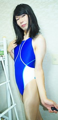 IMGP4439[1] (kisaki inao) Tags: crossdresser fetish swimsuit pantyhose