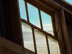 Window Wednesday~Salt Lake (Karen McQuilkin) Tags: window greatsaltlake wood framed roof open view utah mounatins water lake