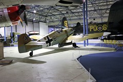 Messerschmitt Bf 109 G-2  Black 6 (crusaderstgeorge) Tags: crusaderstgeorge rafmuseumhendon militarymuseum london messerschmittbf109g2black6 messerschmitt bf 109 g2 black 6