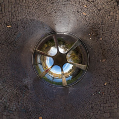 Marientempel - tube (diwan) Tags: tube germany magdeburg marientempel kofpsteinpflaster cobblestone equirectangular roundabout ptgui canon 2015 geotagged geo:lon=11644346 geo:lat=52117697