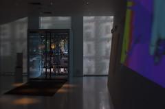 The Crystal Vestibule (MPnormaleye) Tags: vestibule entrance door sidelight sign letters backward shadows sunlight lensbaby sweet35 bokeh blur soft gallery art refraction