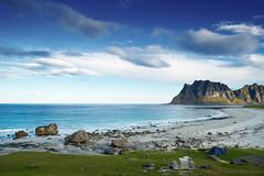 Livin' on the edge (OR_U) Tags: 2016 oru norway lofoten beach island sky blue water sea tent aerosmith rocks landscape