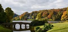 Stourhead Autumn (Nige H (Thanks for 6.5m views)) Tags: nature landscape autumn bridge lake trees stourhead nationaltrust england wiltshire