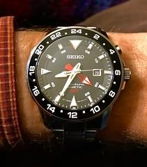 8:35:14 (Scott DeSelle) Tags: kinetic watch timepiece gmt seiko