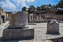 Fountain Square (lGBSl) Tags: ancient square plinth steps fountain kameiros island city greece column pillar rhodes greek