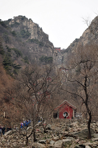 Climbing Mount Taishan