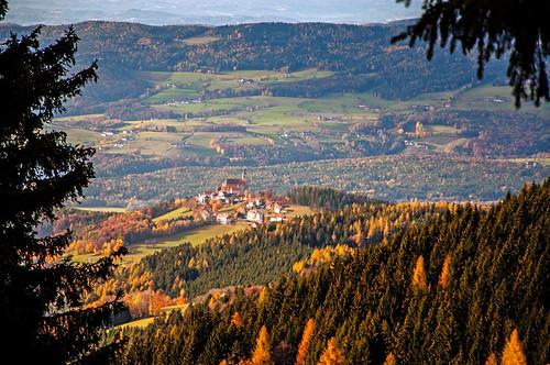 Pöllauberg in der Morgensonne