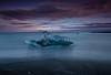 Ice Block (Marshall Ward) Tags: jökulsárlón iceland icebergs ice icebeach marshallward mwardphotographycom midnightsun roadtrip nikond800 afszoomnikkor2470mmf28ged beach nightshot seascape 2014
