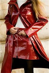 51659c416fd599834228ecfc2c7bd8ba (npeter50) Tags: raincoat shiny red