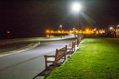 315 - night seats (md93) Tags: 366 troon promenade seats beach night lights grass sand