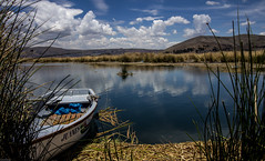 lake titicaca boat on water (juiceSoup) Tags: puno bolivia lake titicaca