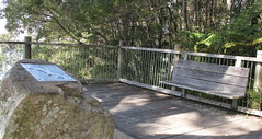 Lions plaque boulder and bench (spelio) Tags: manning shire laurieton north mountain views travel nsw australia oct 2016 bench lonely empty