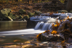 Autumn Cascade (hey its k) Tags: autumnstuff hamilton leaves redhillvalley ontario canada ca img8642e canon6d hfg stream cascade longexposure