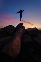 Face the sunset (sm3h) Tags: face sunset jump      nikon