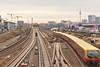 Train Tracks (österreich_ungern) Tags: alex gleisbett warschauer strase berlin kreuzberg friedrichshain mitte epic exposure s bahn tv tower cranes sky germany constrction