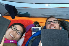 Bookworms in the Wild (GlobalGoebel) Tags: alta wyoming unitedstates us iphone iphone6 iphoneography camping reading book kindle tent backpacking bookworm tetoncresttrail