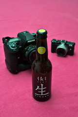 Green tea ginger flavoured beer (tryphon4) Tags: pentax k1 fa 50mm f14 bire beer ginger japanese japan green tea