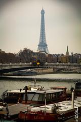 Cid  Paname (Hermann.Click) Tags: paris effeil seine paysage bateau pont eau fleuve france capital water boat tower