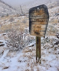 Gates of the Mountains Wilderness.  Montana (montanatom1950) Tags: montana snow wilderness hiking helena helenamontana gatesofthemountains scenic scenery