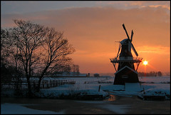 Bovenrijge Ten Boer (TeunisHaveman) Tags: sunset molen mill dutchmill dutchlight hollandslicht geotagged geotag outdoor thenetherlands light licht dutchphoto lucht sky dutch dutchlandscape hollandslandschap landscape landschap