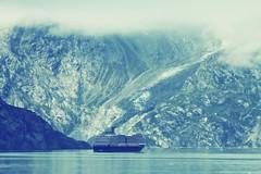 Glacier Bay NP ~ cruising the bay (karma (Karen)) Tags: glacierbaynp alaska usparks cruising hollandamerica ships bays mountains clouds sliderssunday hss 50favs