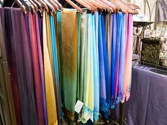 Hand dyed, lace trimmed scarves, Alice Macdonald, Chrysalis (marketkim) Tags: holidaymarket comfort giftguide product eugene oregon saturdaymarket festival artfair eugenesaturdaymarket artfestival